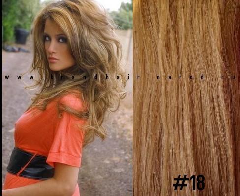 Набор Мега 8 прядей,цвет #18-медный пепельный блондин-70 CM