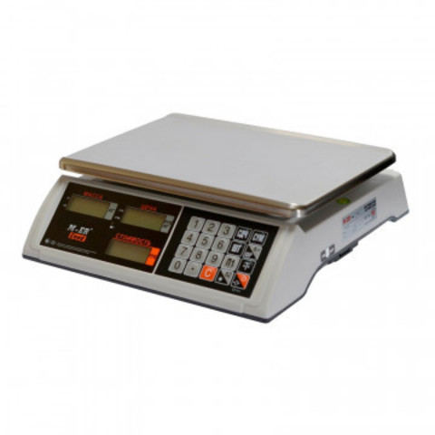 Весы торговые настольные M-ER 327AC-32.5 Ceed,LCD, белые_3019