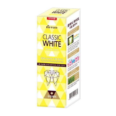 Зубная паста «Classic White» - Отбеливающая зубная паста двойного действия с микрогранулами с ароматом мяты и ментола