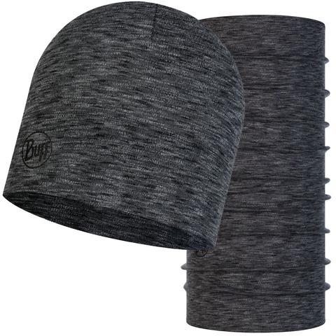 Комплект шапка шарф из шерсти Buff Graphite Multi Stripes фото 1