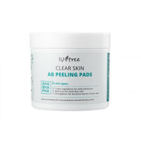Очищающие Подушечки Для Лица ISNTREE Clear Skin AB Peeling Pad