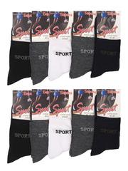 Б101 носки мужские (41-47), цветные (12шт)