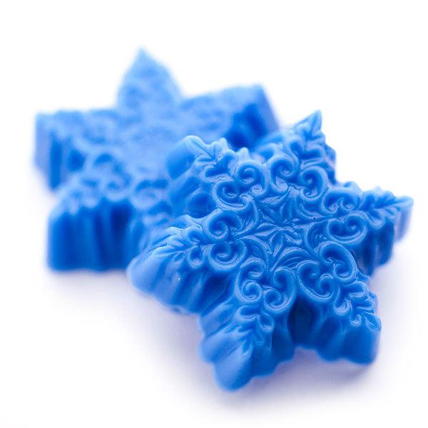 Пластиковая форма для мыла Снежинки малые