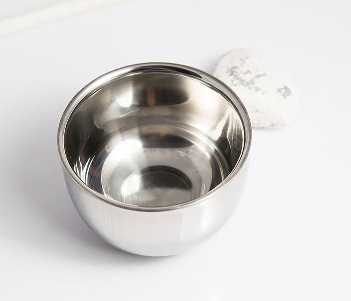 RAZ308 Стальная чаша для бритья с двойными стенками фото 02