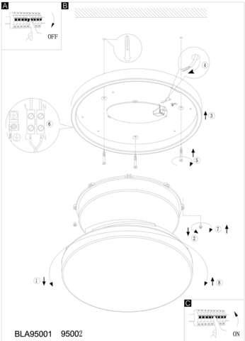 Светильник потолочный влагозащищенный Eglo LED LORA 95002 2