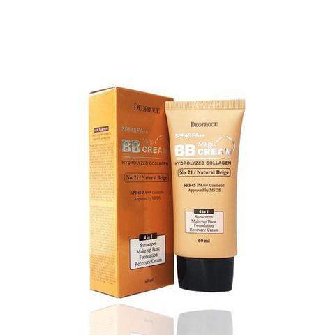 Deoproce Magic Bb Cream Spf50+ Pa+++ крем бб с коллагеном и гиалуроновой кислотой (21 Natural Beige - натуральный бежевый)