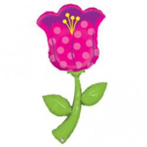 Фольгированный цветок Тюльпан 152 см.