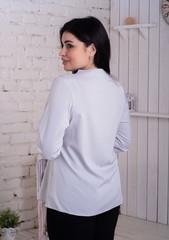 Ольга. Стильна комбінована блуза. Сірий