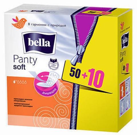 Прокладки ежедн BELLA Panty Soft 50+10 шт РОССИЯ