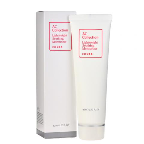 CosRX AC Collection Lightweight Soothing Moisturizer лечебный увлажняющий крем с AHA & BHA кислотами для проблемной кожи