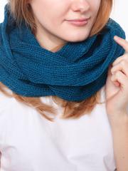Небольшой шарф-снуд цвет морская волна