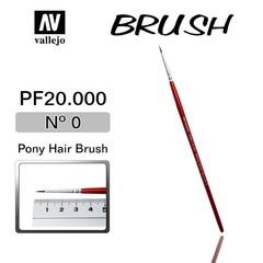 BRUSH,PONY HAIR,No.0