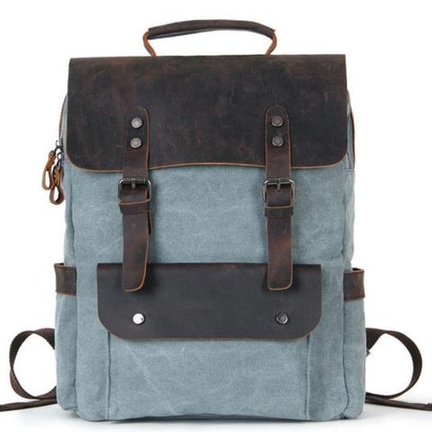Рюкзак из ткани и кожи BUG 067 Blue