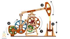 Нефтяная вышка (M-WOOD) - Деревянный конструктор, сборная модель, 3d пазл