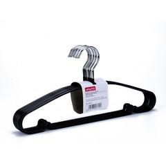 Вешалка-плечики металлическая Attache с перекладиной черная (размер 48-50, 10 шт/уп)