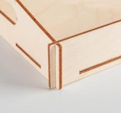 Поднос с ручками, заготовка для творчества, 31*21*5 см, деревянный.
