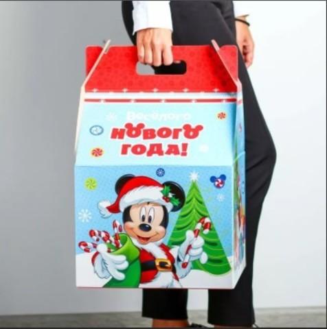 060-0167 Подарочная коробка гигант «С Новым Годом!», Микки, 30 х 50 х 32 см