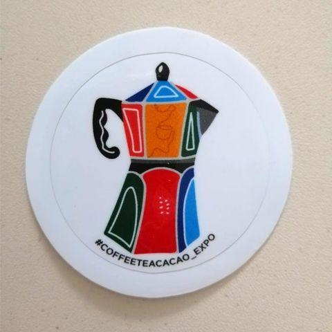 Наклейка Кофейник (глянцевая)