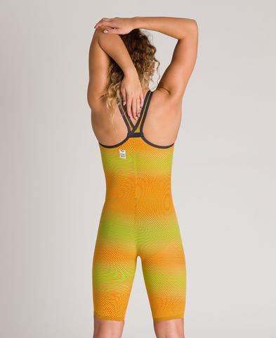 (2020) Cтартовый костюм Arena Powerskin Carbon AIR² Closed Back lime orange ПОД ЗАКАЗ