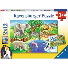 Puzzle Animals in the Zoo  2x12 pcs