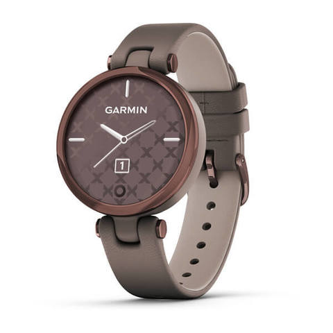 Garmin Lily Classic - Dark Bronze Bezel with Paloma Case and Italian Leather Band