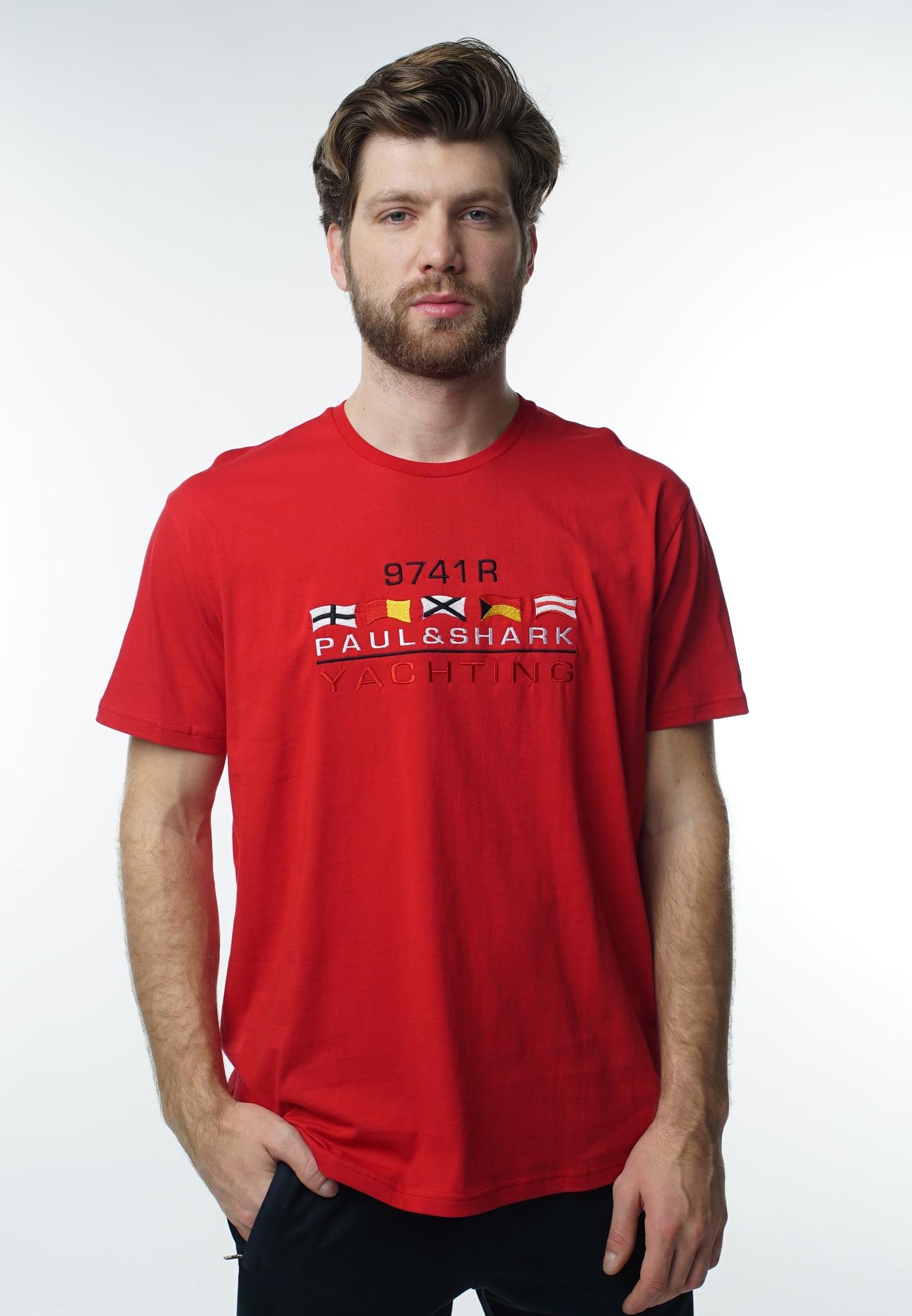 """Мужские футболки Футболка """"Paul and Shark"""" 1065 Red DSC07691.JPG"""