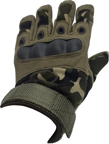 Перчатки тактические со вставкой, вудланд/олива