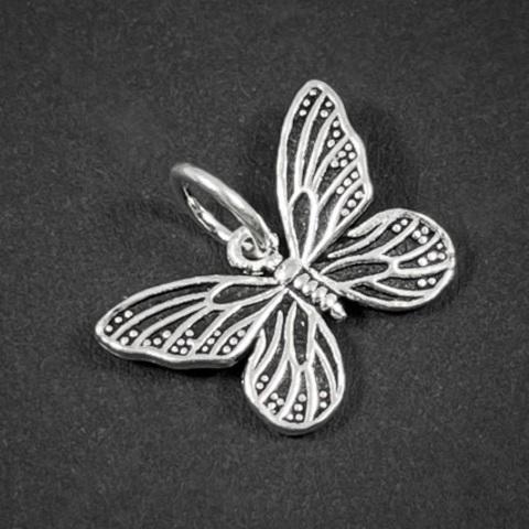Подвеска Бабочка 15,5х11 мм серебро 925 1 шт