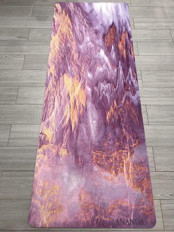 Коврик для йоги Ananda mirage 183*68*0,3 см из микрофибры и каучука