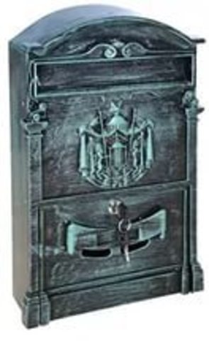 Ящик почтовый №4010В (зелёная патина;старое серебро )