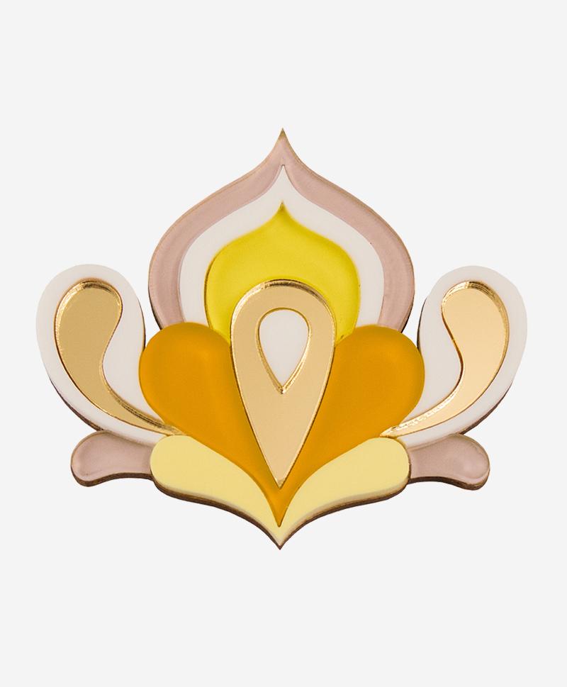 Брошь Lotus Yellow
