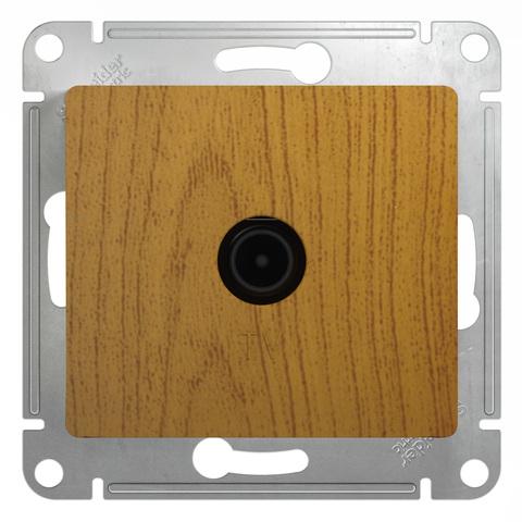 Розетка TV проходная 4DB. Цвет Дуб. Schneider Electric Glossa. GSL000592
