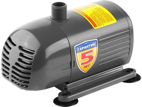 Насос фонтанный, ЗУБР ЗНФЧ-33-2.5, для чистой воды, напор 2,5 м, насадки: колокольчик, гейзер, каскад, 50 Вт, 33 л/мин