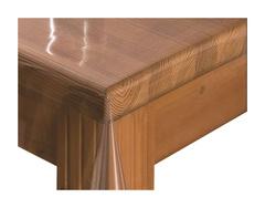 Скатерть прозрачная на углу стола