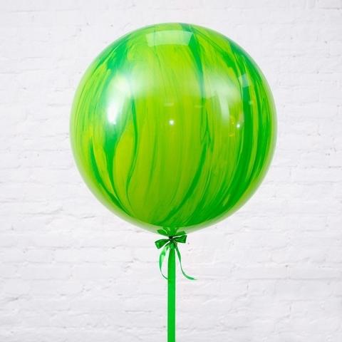 Большой воздушный шар-гигант Агат зеленый