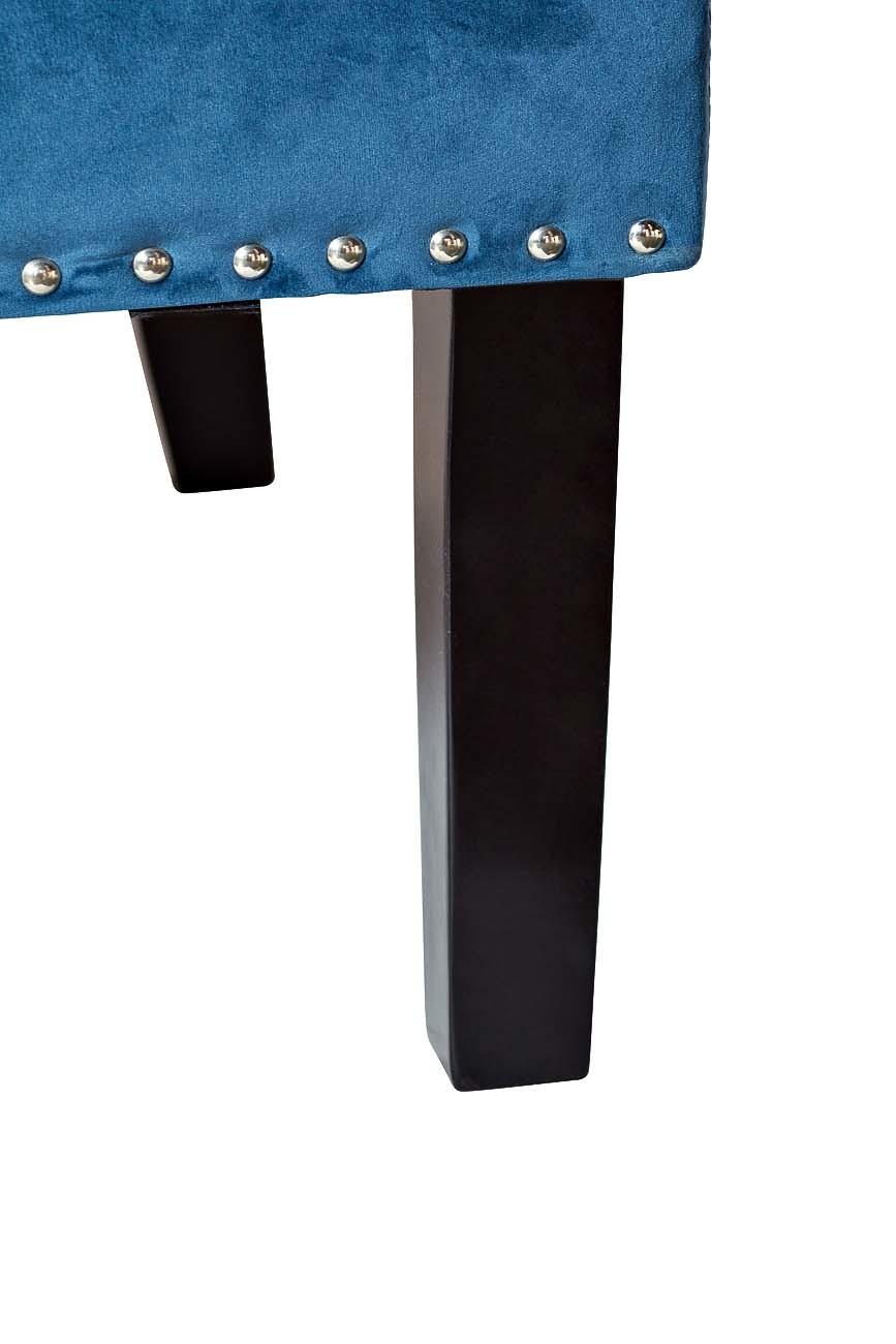 Кресло велюровое синее (с подушкой) (24YJ-7004-06466/1) Garda Decor