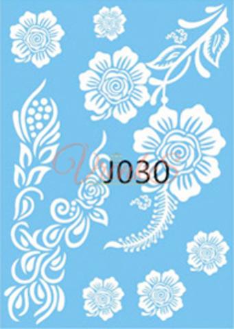 Флеш тату / Flash Tattoo белые №JO30 купить за 200руб