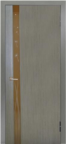 Дверь Модерн - 3 (стекло одуванчики (серый дуб, остекленная шпонированная), фабрика LiGa