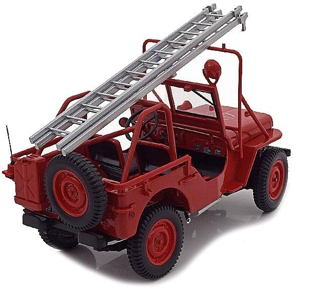 Коллекционная модель Jeep Willys Fire Engine 1988 Red
