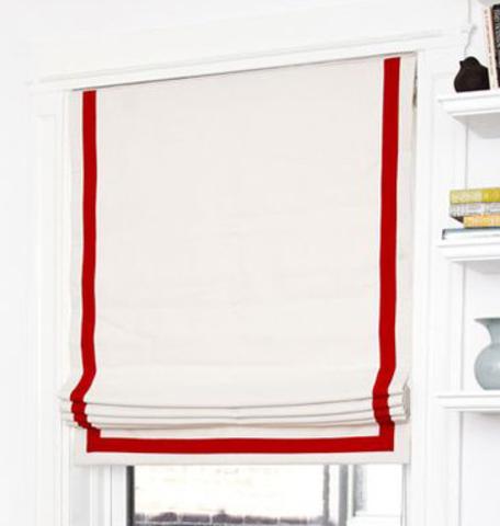Хлопковая римская штора Джелато (П-образная лента)