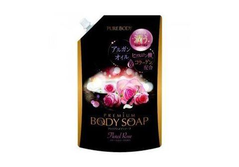 Гель для душа увлажняющий с гиалуроновой кислотой, коллагеном и алоэ с ароматом букета роз Mitsuei P
