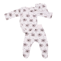 Mini Fox. Комплект для новорожденных швами наружу 3 предмета, мишки