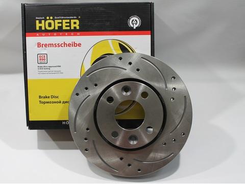 Диск тормозной передний перфорированный Hofer (2шт)
