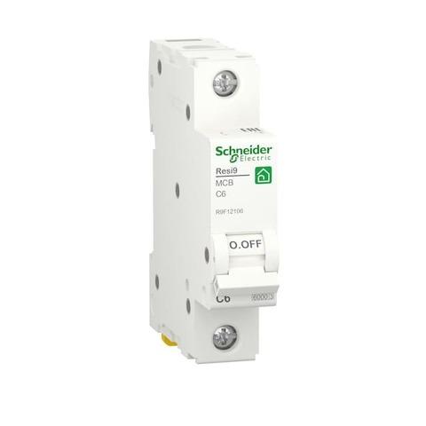 Автоматический выключатель 1P - 6 A тип C 1 модуль 230 В~. Schneider Electric Resi9. R9F12106