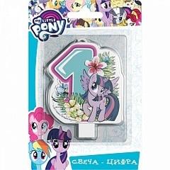 """Свечи-цифры  """"My Little Pony"""" 8 см"""