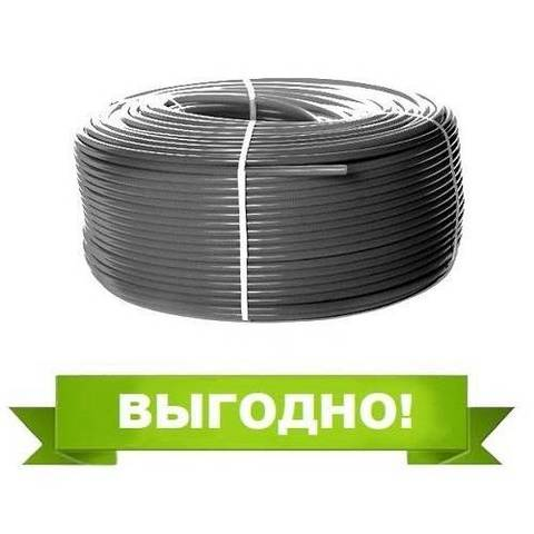Труба из сшитого полиэтилена STOUT - 16x2,2 (PE-Xa/EVOH, PN10, Tmax 95°C, цвет серый, отрезок 10м)