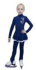 Платье из термоткани с двумя юбками (аппликация фигуристка)