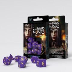 Classic Runic Purple & yellow Dice Set (7)