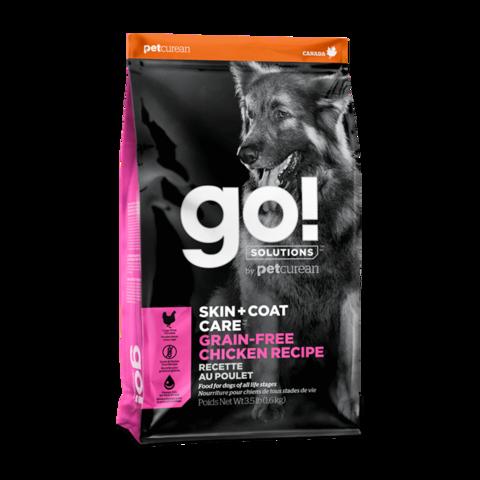 Go! Skin + Coat Сухой корм для щенков и собак с цельной курицей (беззерновой)