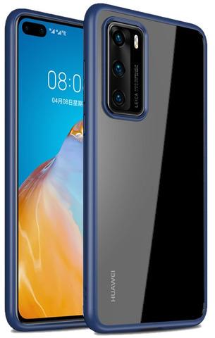Чехол с темно синими рамками для Huawei P40 от Caseport, серия Ultra Hybrid
